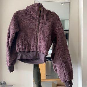 Reversible lulu Sherpa hoodie